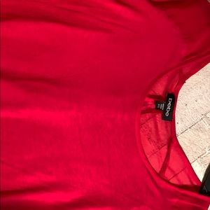 bebe Tops - Bebe Red Shirt with Sheer Back Size S